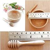 1 Set Mini Wood Bowl and Honey Dipper HK48 for