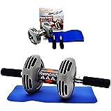 Hanumex Powerstretch AB Wheel Roller Exercise Fitness Slim Body Roller Power Stretch