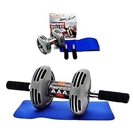 Amity impex Powerstretch AB Wheel Roller, Exercise Fitness Slim Body Roller, Total Body Exerciser. Aerobic Training Machines
