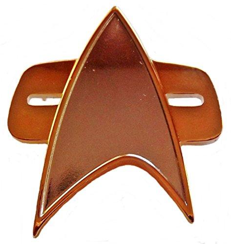 (Star Trek Voyager & Deep Space Nine 1/2 Size Communicator Metal Pin)
