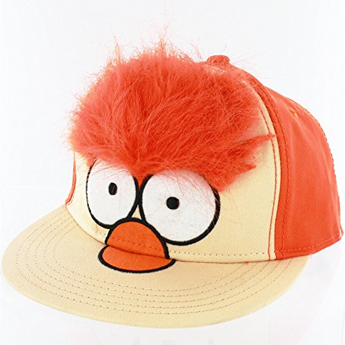 Concept One Muppets Beaker Faux Fur Adjustable Baseball Cap Orange/Peach