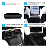 Car Center Console Fit Tesla Cubby Drawer Storage