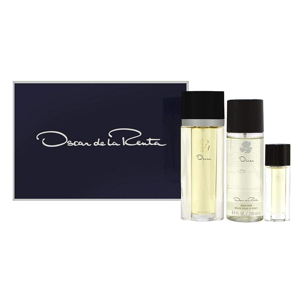 Oscar by Oscar de la Renta for Women 3 Piece Set Includes: 3.3 oz Eau de Toilette Spray + 8.4 oz Body Mist + 0.5 oz Eau de Toilette Spray by OSCAR DE LA RENTA