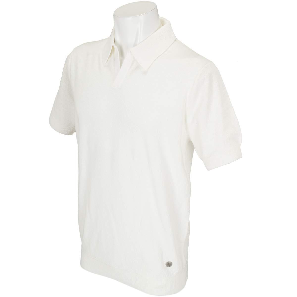 JWO ジェイダブルオー 半袖シャツポロシャツ ブークレー半袖ニットポロシャツ B07PT9FR2C ホワイト LL