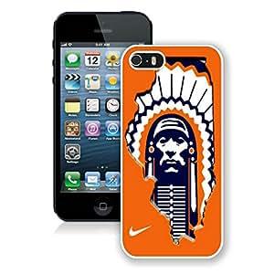 iPhone 5S Illinois Fighting Illini 01 White Screen Phone Case Charming and Unique Design