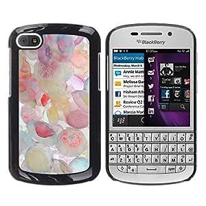 Caucho caso de Shell duro de la cubierta de accesorios de protección BY RAYDREAMMM - BlackBerry Q10 - Jellyfish Pastel Colors Sea