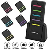 Key Finder Wireless RF Item Locator Wireless Key Tracker Anti-lost Alarm Remote Control Keychain 1 RF Transmitter and 5 Receivers for Key Purse Pet Cat Dog Cell Phone Luggage Wallet Tracker
