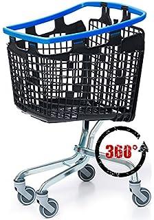 Avaven 100 L Loop 360 Grado plástico Ahorro de Espacio supermercado Carrito de la Compra,…