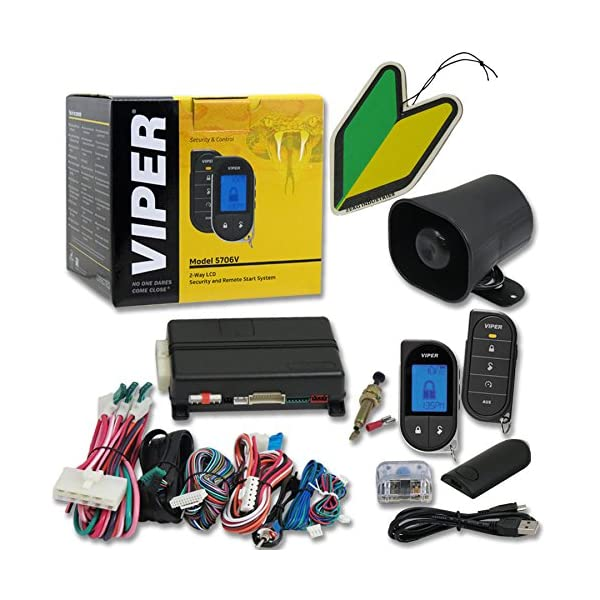 2013 Viper Responder LC3 Supercode SST 2 Way Car Alarm Security System With Keyless Entry & Remote Start + Free Squash…