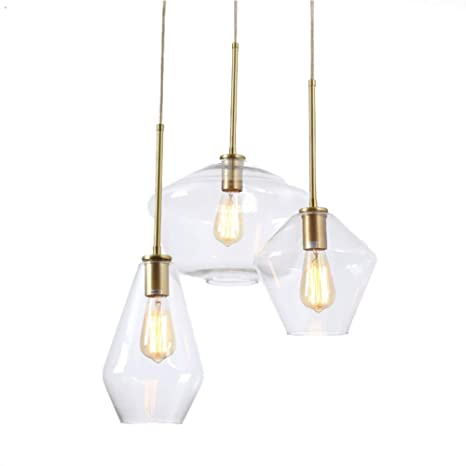 Topdeng Glass Creative Lighting Fixture Modern Simple Pendant Lights Restaurant Living Room Bedroom Bedside Reading Light No Bulb H Com