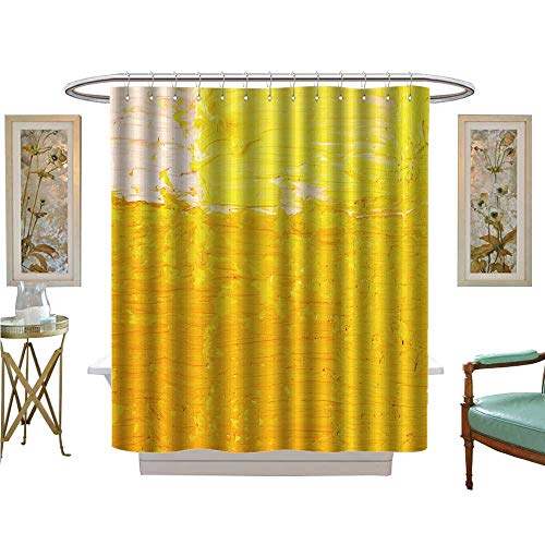 luvoluxhome Shower Curtains Waterproof Wallpaper Texture Background of Fragment of Oil Bathroom Decor Sets with Hooks W48 x L72