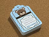 Teddy Bear party favors gift Hang tags for Baby Shower SET of 35