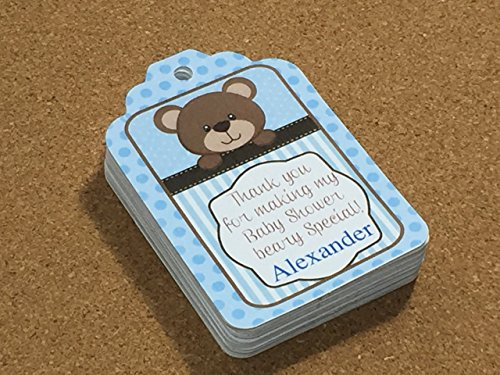 Teddy Bear party favors gift Hang tags for Baby Shower SET of 35 by The Party Palace
