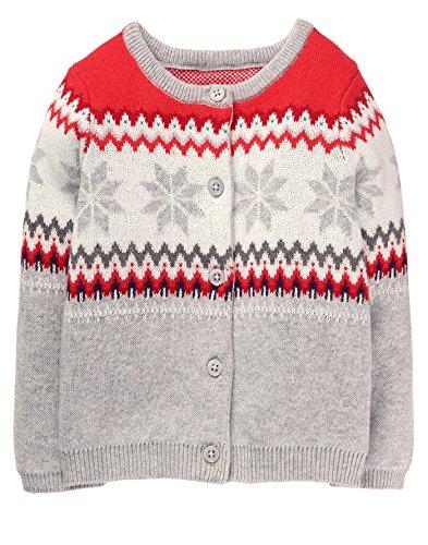 Gymboree Toddler Girls' Button up Sweater, Fairaisle, 4T