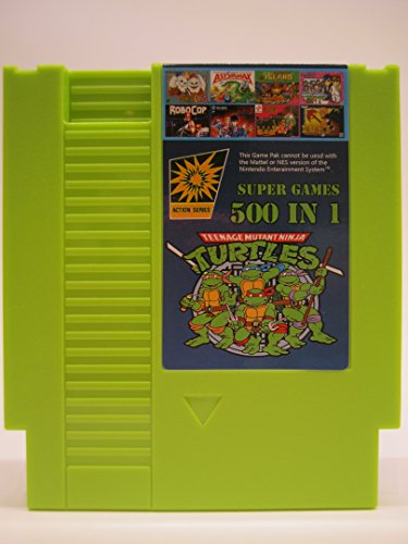 Price comparison product image 500 in 1 Super Games Green NES Cartridge - SOLID GREEN - 8-Bit 72-Pin Multi Cart