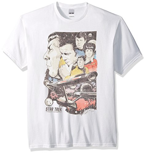 Star Trek Men's 50th Anniversary Triblend T-Shirt, White, X-Large