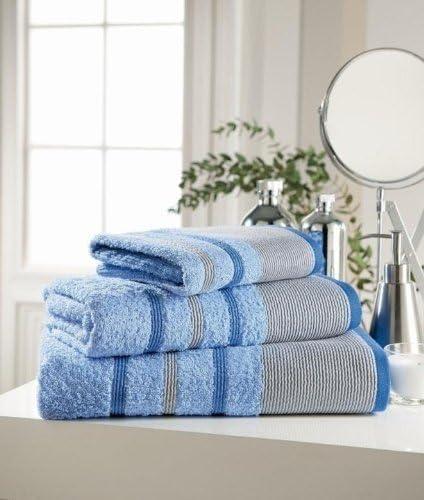 Algodón egipcio de Pin Tuck color azul toalla de mano Plain: Amazon.es: Hogar