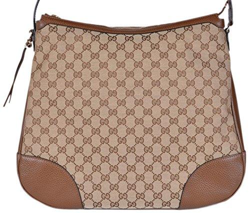 Gucci Women's Large Bree Canvas Leather Hobo Handbag (Gucci Hobo Purse)