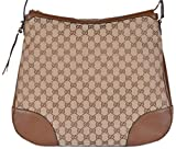 Gucci Bags for Women Gucci Women's Large Bree Canvas Leather Hobo Handbag (Beige/Brown)