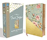 NIV, True Images Bible, Leathersoft, Blue/Gold: The Bible for Teen Girls