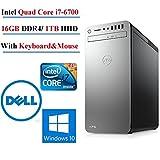 Dell XPS 8910 Business Desktop - Intel i7-6700 Quad-Core up to 4.0 GHz, 16GB DDR4 Memory, 1TB SATA HDD, 2GB AMD Radeon RX 560 Graphic Card, DVD Burner, Windows 10 Professional.