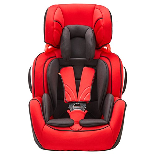 LSXUE Baby Child Seat Car 9 Months-12 Years Old Car Child Seat Child Car Seat Suitable for Travel (Color : Red)