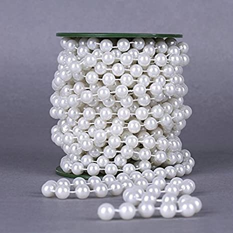 Garland String Beads Faux Pearl Garlands Party Wedding Table Decor Celebration