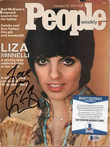 LIZA MINNELLI SIGNED 1/12/76 PEOPLE MAGAZINE SLIGHT RIPS ON COVER BECKETT F50881 ()