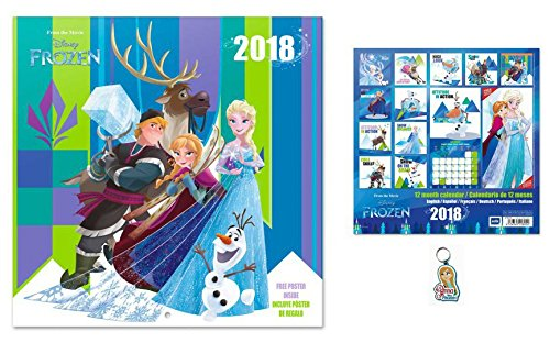 Frozen, Official Calendar 2018 (12x12 inches) And 1Keychain