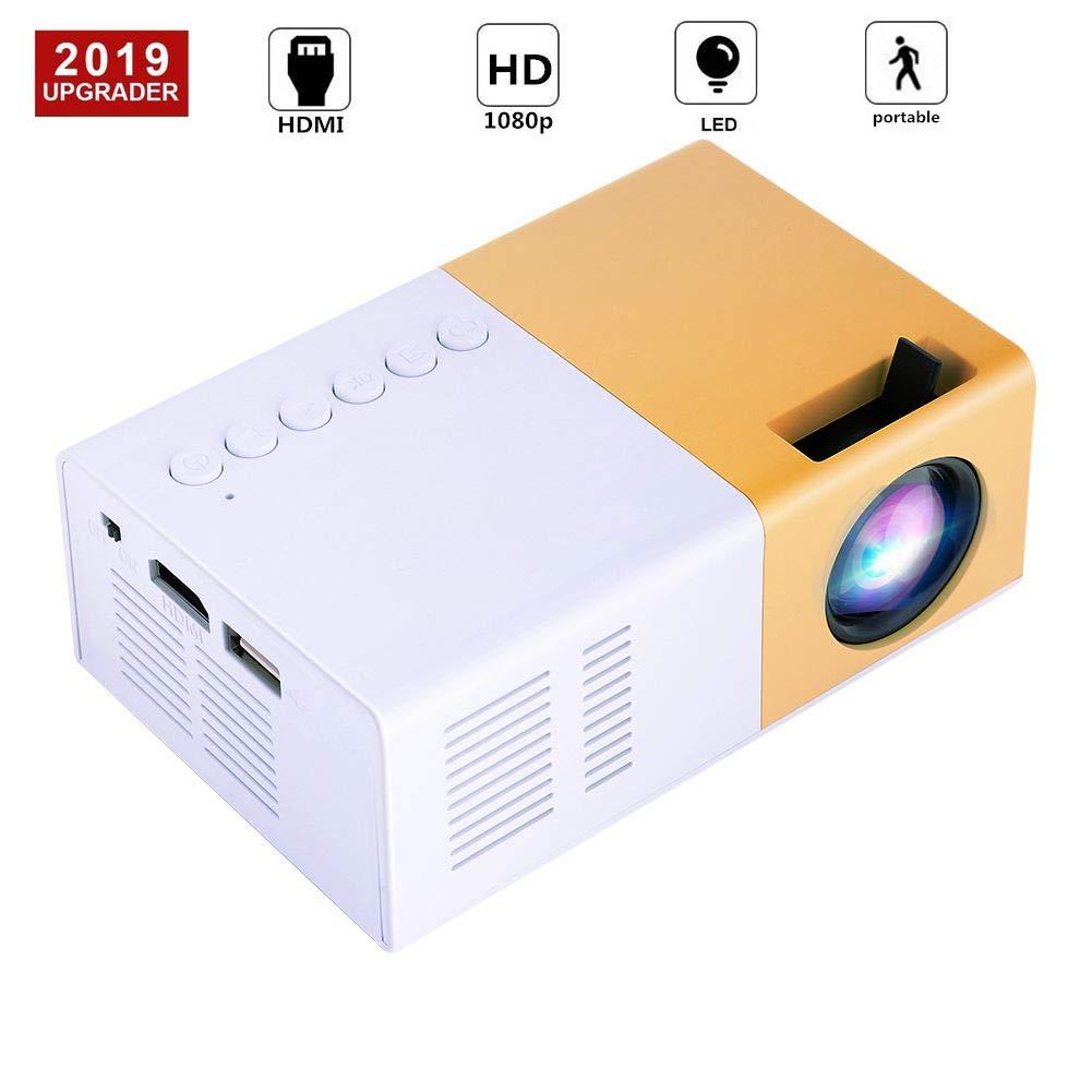 Richer-R HD Proyector LCD Portátil,Mini Multimedia Proyector de ...