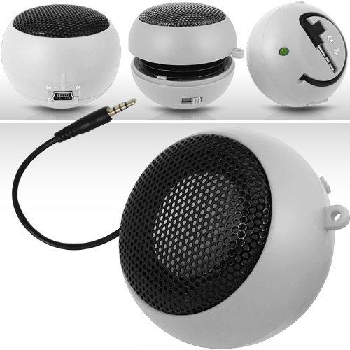 N4U Online White Super Sound Rechargeable Mini Pocket Size Portable Speaker 3.5Mm Audio Jack Built In With Usb Charger Lead Suitable For Orange Stockholm