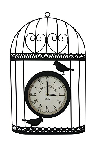 Alpine Clock - Alpine HAV108 Birdcage with Clock, 13