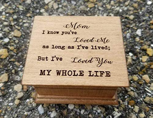 Custom made wooden music box with Mama engraved on top with your choice of color and song Great gift for mom for Mothers day