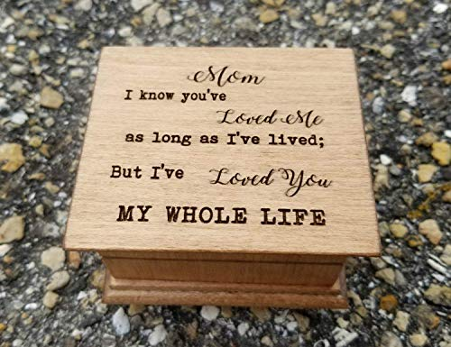 Engraved music box for Mom with your choice of color and song, perfect gift for Mother's day