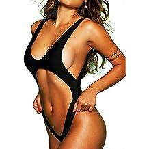 Fittoo Women Cut-Out One-Piece Cross Back Swimsuit Black/White Swimwear Thong Monokini Trikini 2018 Female Bathing Suit