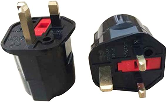 EU Euro 2Pin to UK 3Pin Plug AC Universal Adapter Converter European Chic