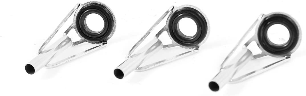 Details about  /90Pc//Box Fishing Rod Guides Tip Rings Stainless Steel Frame 23-3mm Tip Rings