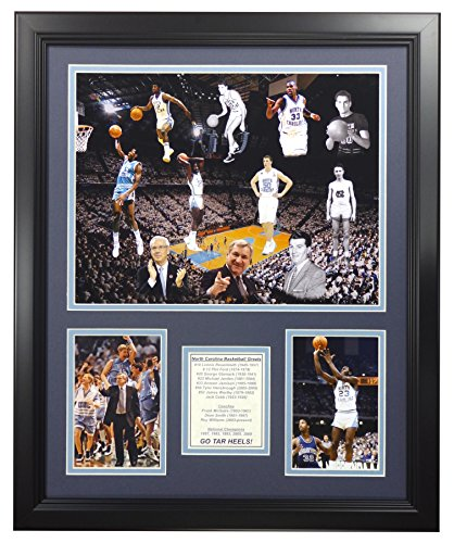 (Legends Never Die NCAA North Carolina Tar Heels All-Time Greats Framed Photo Collage, 18