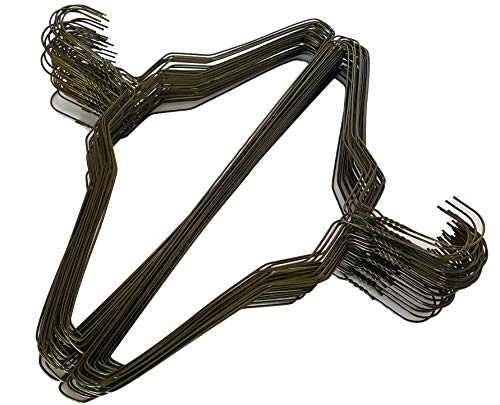 100 GOLD TONE WIRE STANDARD SHIRT HANGERS 18 INCH 14.5 GUAGE by Homeneeds Inc ()
