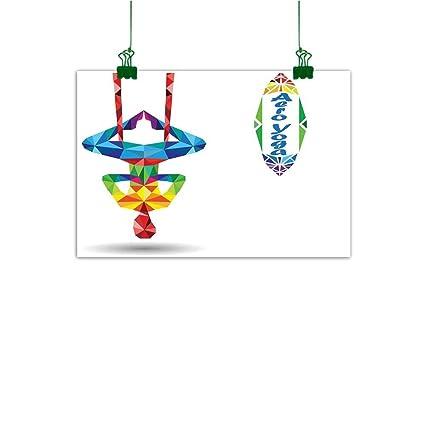 Amazon.com: Anzhutwelve Art Prints Yoga,Aerial Aero Anti ...