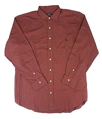 Polo Ralph Lauren Men's Big & Tall Plaid Woven Pony Shirt Red/Black