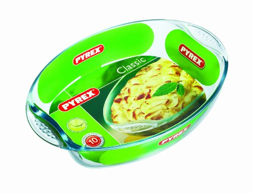 Pyrex Oval Roaster With Easy Grip- 39 X 27cm