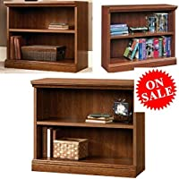 Wood Shelving Unit Cabinet Adjustable Small Book Shelf Unit Horizontal Shelf Bookcase 2-Shelf Cherry Open Low Library Furniture Bookcase eBook by Easy&FunDeals