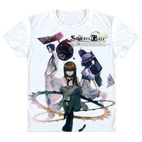 [Onecos Steins Gate Makise Kurisu T-shirt Size S(height 63in,weight 100lbs) B] (Kurisu Makise Cosplay Costume)