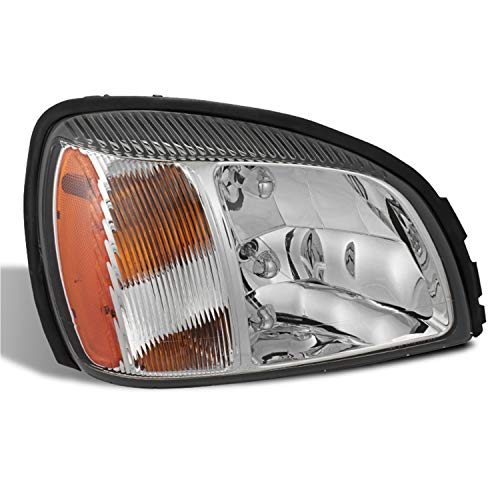Fits 2000 2001 2002 2003 2004 2005 Cadillac Deville 4Door [OE Style] Chrome Headlights w/Amber Side Passenger Right ()