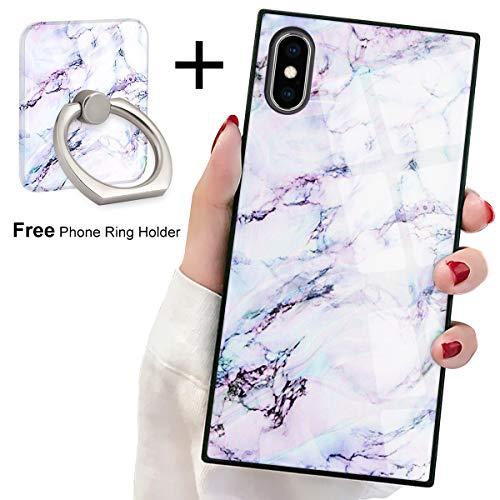 - Marble Square Phone Case iPhone Xs Max Retro Elegant Design Phone Cover Square Soft TPU Case for iPhone Xs Max