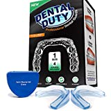Facial Jaw Pain Symptoms - Professional Dental Guard - Thin Fit Small Size - for Anti Grinding, Clenching & Teeth Whitening Tray - Made from FDA Approved and BPA Free Material - Pack of 4 (Medium 4 Pack)
