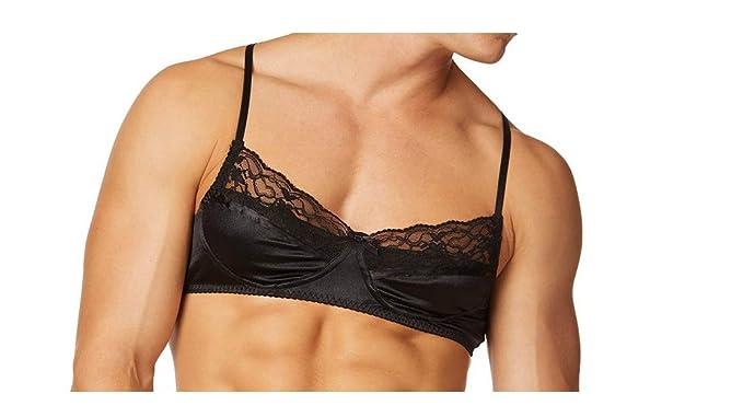 b62591c37f Body Aware Glimmer Satin   Lace Men s Bra at Amazon Men s Clothing ...