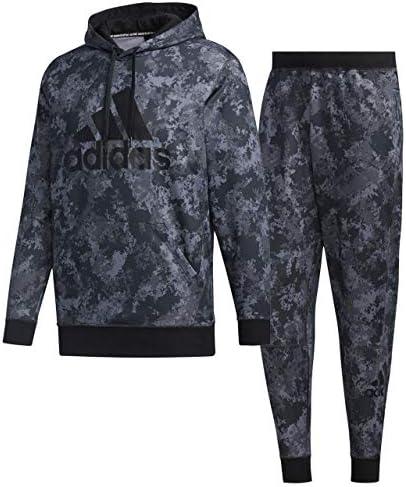 アディダス(adidas) マストハブ スウェット プルオーバーフーディ 20&ジョガーパンツ 上下セット(ブラックグレー/ブラックグレー) S-AD-GUN49-FM5379