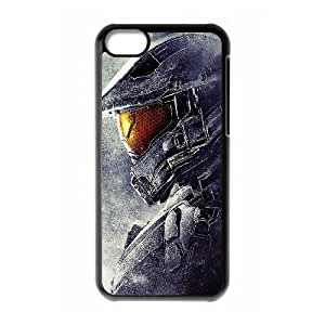 High Quality Specially Designed Skin cover Case Halo 5 Guardians Team Chief iPhone 5c Cell Phone Case Black